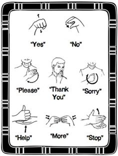 A sign language is a complete and comprehensive language of its own. It is not just some gestures which are random and used to convey a meaning. Sign language also has a set of grammar rules to go by. This language is mainly used by p Sign Language Phrases, Sms Language, Language Lessons, Baby Sign Language Chart, Sign Language For Toddlers, Alphabet In Sign Language, Sign Language For More, Learn Sign Language Free, Sign Language Basics