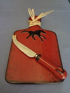 Found this on ebay.  Ceramic cheese board and knife.  Sweet for horse lovers.