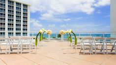 The Westin Beach Resort, Fort Lauderdale, Florida | rooftop wedding by the beach / ocean | | Featured on equallywed.com as a destination wedding spot for gay, lesbian, bisexual, queer and transgender couples, but would also be fabulous for bachelor and bachelorette trips, romance travel and honeymoons!