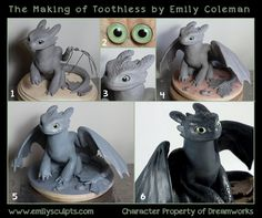 The Making of Toothless by emilySculpts on deviantART