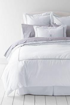 400-count No Iron Embroidered Rope Duvet Cover or Sham from Lands' End
