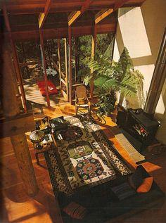 always like high ceiling. Interior Architecture, Interior And Exterior, Future House, My House, Retro Interior Design, 70s Decor, Vintage Interiors, Retro Home, My New Room