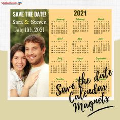 Announce your anniversary, engagement, etc. in an extra-ordinary way with custom calendar magnets. The custom printed calendar magnets can fit in all the needed information about your event as well as the regular calendar. #savethedate #calendarmagnets2021 #savethedatemagnets #weddingcalendars #wedding #calendars2021 #savethedateideas #weddingfavors #weddinggifts Magnetic Calendar, Print Calendar, 2021 Calendar, Wedding Favors, Wedding Gifts, Custom Calendar, Save The Date Magnets, Promote Your Business, Dating