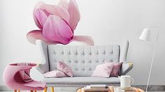 Colorful flowers and not only - you will gain new places for the favourite flowers, thanks to the new coloured stickers. #wallstickers #stickers #colouredstickers #floralstickers #flowers #wallart #livingroom #walldecoration