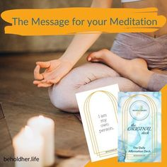 The Daily Affirmation Deck: The Message for your Meditation Let the deck inspire your meditation. BEHOLDHER.LIFE Daily Affirmations, Powerful Words, Words Of Encouragement, Best Self, Self Love, Meditation, Deck, Positivity, Inspire