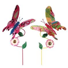 Metal Butterfly Stakes, Set of 2