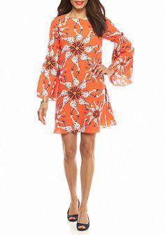 crown & ivy™ Lantern Sleeve Dress
