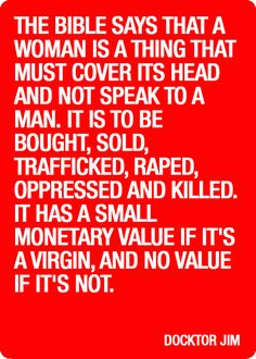 """The bible is nothing but a collection of stories reflecting archaic values. And, like most """"holy books"""", it is repressive to women. This was laws written by men not instituted by God__ Religion Humor, Religion Quotes, Anti Religion, Religion And Politics, Deep Conversation Topics, Atheist Quotes, Losing My Religion, Buddhist Quotes, Religious People"""