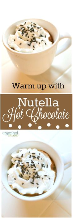 Warm up with this Nutella Hot Chocolate recipe. This might just be your new favorite hot cocoa recipe!