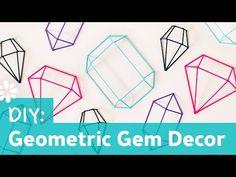 Geometic Sculpture - (Upper Elementary Adaptations May be Needed) - DIY Geometric Gem Decor - YouTube