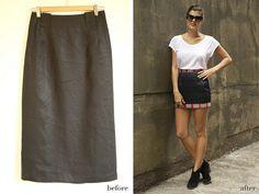 DIY Embellished Mini Skirt refashion