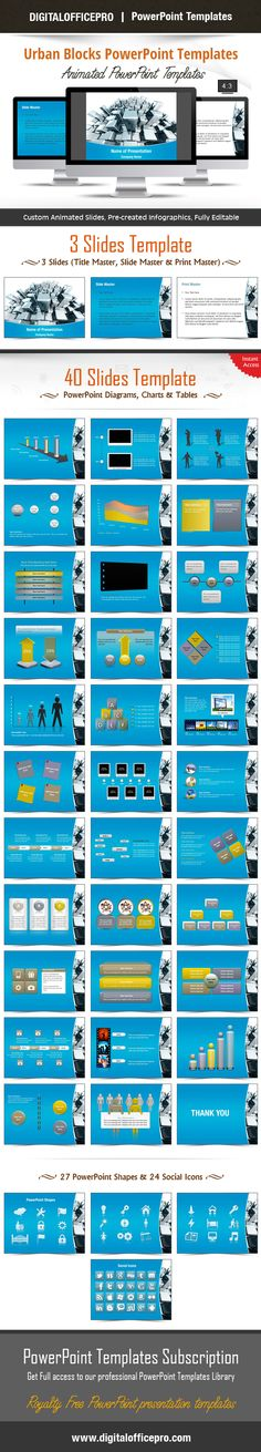 Cyberspace PowerPoint Template Backgrounds | Shape, Set of and ...