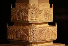 Art Nouveau cake detail (cake design inspired by the deco architecture of the venue)