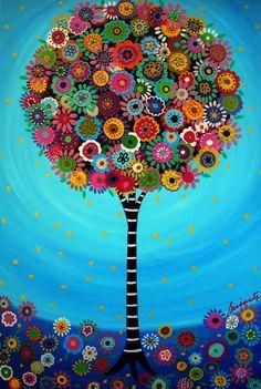 Folk Art Tree of Life by Pristine Turkus
