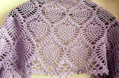 Inspiration, no pattern. pineapple crochet shawl