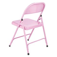 MACADAM Pink Metal Folding Chair