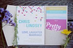 geometric inspired wedding invitations, photo by Mandilynn Photography http://ruffledblog.com/levyland-estate-wedding #weddinginvitations #stationery