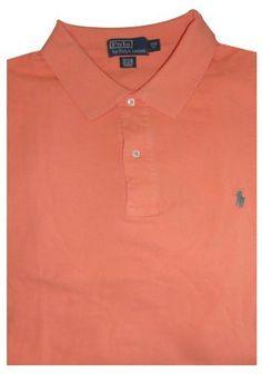 Men's Polo by Ralph Lauren Big and Tall Short Sleeve Polo Shirt Orange with Green Pony Ralph Lauren, http://www.amazon.com/dp/B005LD8GI4/ref=cm_sw_r_pi_dp_6e9arb023AYGD