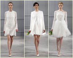 Os vestidos de noiva curtos são ideais para noivas modernas e inovadoras