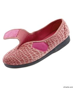 cbf535bcc398 Womens Extra Wide Comfort Slippers - Womens House Slippers With Adjustable  Closures. Adaptive Clothing and Footwear by Silvert s