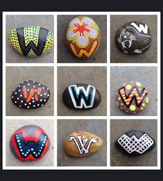 SNS DESIGNS Creative painted rocks W