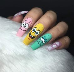 Disney Acrylic Nails, Halloween Acrylic Nails, Acrylic Nails Coffin Short, Simple Acrylic Nails, Best Acrylic Nails, Coffin Nails, Edgy Nails, Grunge Nails, Dope Nails