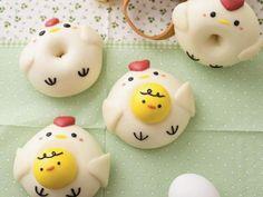 Cute Snacks, Cute Desserts, Cute Food, Japan Dessert, Kawaii Dessert, Dog Cupcakes, Easter Cupcakes, Donut World, Fancy Donuts