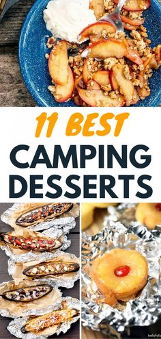 We have some great Camping Dessert ideas for your next camping trip! From foil packets to Dutch oven recipes these are the best campfire desserts that your family will love. Camping Snacks, Camping Breakfast, Best Camping Recipes, Desserts For Camping, Camp Desserts, Dessert Recipes, Camping Tips, Dinner Recipes, Campfire Desserts