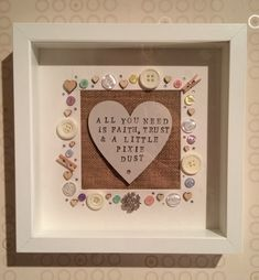 Handmade Frames For Any Occasion – Best Unique Frame Ideas Scrabble Kunst, Scrabble Frame, Scrabble Art, Handmade Picture Frames, Handmade Frames, Handmade Framed Art, Personalised Frames, Button Frames, Button Art
