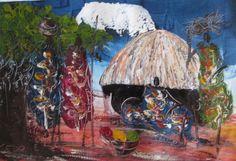 Village Life East African Art, Original African Art (https://africanartonline.com/village-life-east-african-art/)