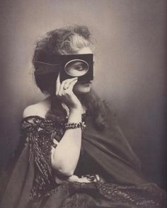 """Scherzo di Follia Pierre-Louis Pierson 1865 The """"selfie"""" is decidedly un-original. Selfies in photography were first marketed by Virginia Elisabetta Luisa Antonietta Teresa Maria Oldoini Countess of Castiglione (1837-1899). She was born in Florence to a family of minor nobility but with many opportunities. Known as Nicchia she was married at 17 to a man of 34. They had one son (there seem to be photos of them together). Nicchia was promptly moved to France where she was expected to wield her…"""