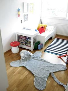 My boys room-love the rug-get mimi to make! Boy Room, Kids Room, Shared Bedrooms, Sweet Home, Animal, Space, Rugs, Children, House