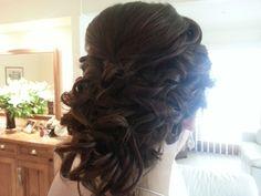 Bridal upstyle - curls  By WYE 1300 993 267 Wyecosmetics.com.au