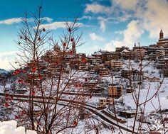 Another beautiful view of #Bcharre covered with snow ❄️❄️ By @fi_bladi #WeAreLebanon  #Lebanon #WeAreLebanon