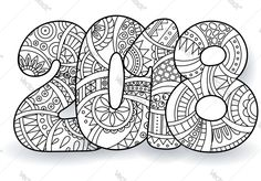 printable new years coloring pages 2018 wish you a very happy new year 2019