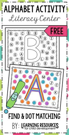 Find and Dot Matching Letters Activity! Perfect for learning letters | the alphabet in preschool, pre-k, kindergarten, and early childhood. Free printable by Learning Resources for Child Development. #literacy #literacycenter #letter #letteractivity #alphabet #alphabetactivity #freeprintable #freeactivity #preschoolliteracy #kindergartenliteracy #learningresources