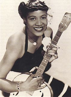 "Blues singer and guitarist ""Wee Bea Booze."" Her real name was Muriel Nichols…"