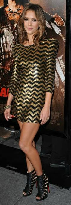 Jessica Alba Sequin Mini