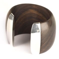 81st Generation | Wood and sterling silver bracelet.