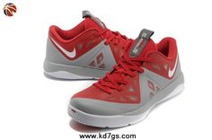 Authentic Nike LeBron ST II Red Grey 579743-640 Discount