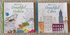 "Lot Of 2 Brand New High Quality Adult Coloring Books.   1 ""Beautiful Nature"" themed (Canyons, Mountains,Gardens, etc.), and  1 ""Beautiful Cities"" themed (Many US cities and cities from all around the world)   Each page comes with a description including location co-ordinates, history and facts, as well as a fun ""seek and find"" game.   These books are a bit heavier than the average similar product; paper has a nice weight and tooth."