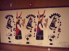 Mural at Indian Pueblo Cultural Center, Albuquerque, NM.