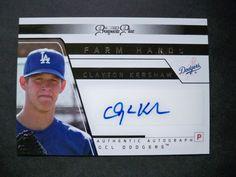 2006 Tristar Prospects Plus Farm Hands Autograph #25 Clayton Kershaw Dodgers NM/MT