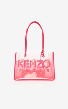 Kombo tote | Kenzo Kids Bags, Back To Black, Leather Handle, Kenzo, Pouch, Coral, Tote Bag, Stylish, Accessories