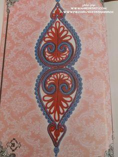 حصريا على موقع خياطتي فقط:رشمات زواق المعلم باليد الخاص بالجلابة