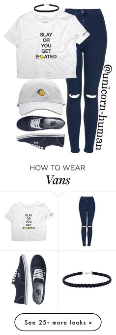 """Untitled #2641"" by unicorn-human on Polyvore featuring Topshop and Vans"