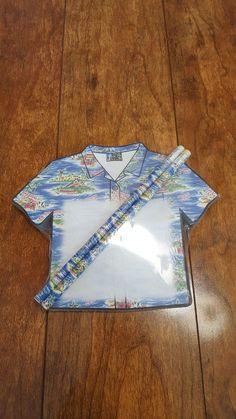 BIG DOGS Hawaiian Shirt Design Stationary Set Large Notepad Pencils Magnetic