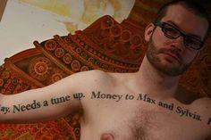 Man Tattoos a 1920s Psychiatrist's Last Wishes #tattoos