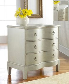 Who could resist the graceful curve of this Gustavian Serpentine Chest. The antique grey elevates this piece into a class all its own. Modern history