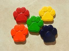 Recycled Crayon Party Favor  Paw Prints 8 count by ScribblemeMine, $7.50